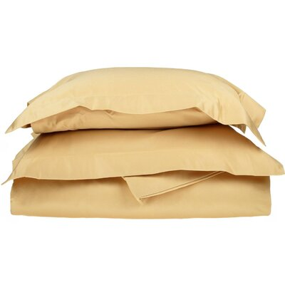 Amherst Pillow Case Color: Gold, Size: Full