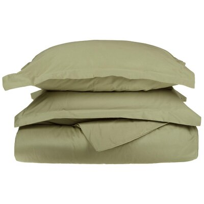 Amherst Pillow Case Color: Sage, Size: King