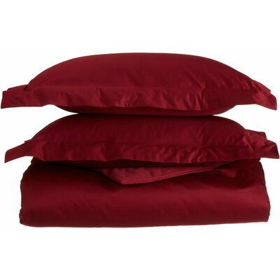 Amherst 100% Egyptian-Quality Cotton Duvet Set Color: Burgundy, Size: King