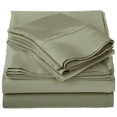 Superior 1200 Thread Count 100% Cotton Sheet Set Color: Sage, Size: Queen