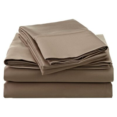 Superior 1200 Thread Count 100% Cotton Sheet Set Size: Full, Color: Taupe