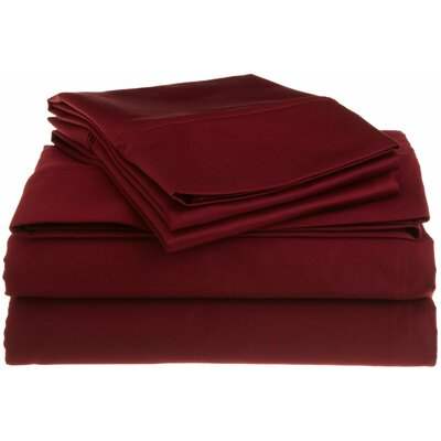 Superior 1200 Thread Count 100% Cotton Sheet Set Size: Queen, Color: Burgundy