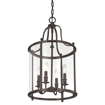 Walker 4-Light Hanging Foyer Pendant Finish: Distressed Bronze