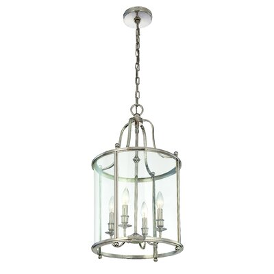 Walker 4-Light Hanging Foyer Pendant Finish: Polished Nickel