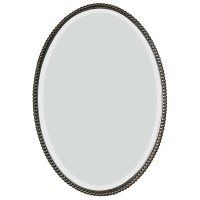 Glen View Beaded Oval Mirror Finish: Distressed Bronze
