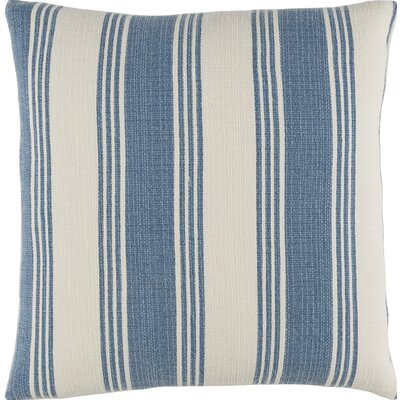 Fagan Cotton Throw Pillow Size: 22 H x 22 W x 4 D, Color: Cobalt/Ivory