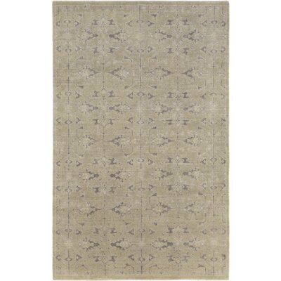 Chebanse Hand-Knotted Beige Area Rug Rug Size: Rectangle 4 x 6