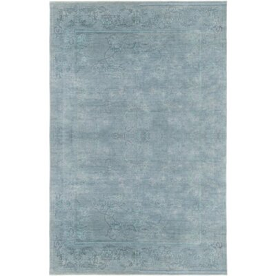 Chebanse Hand-Knotted Blue Area Rug Rug Size: Rectangle 6' x 9'
