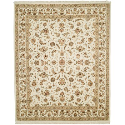 Beason Hand-Woven Ivory Area Rug Rug Size: Rectangle 86 x 116