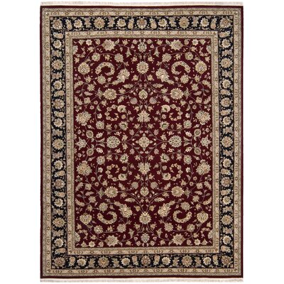 Beason Handmade Burgundy Area Rug Rug Size: Rectangle 79 x 99