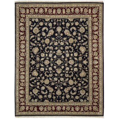 Royalty Hand-Woven Wool Black Area Rug
