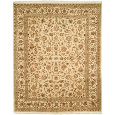 Beason Hand-Woven Beige Area Rug Rug Size: Rectangle 79 x 99