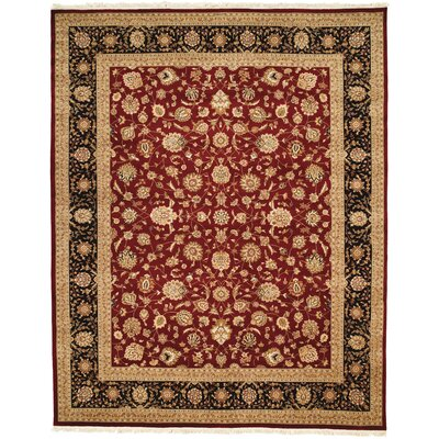 Beason Hand-Woven Burgundy Area Rug Rug Size: Rectangle 79 x 99