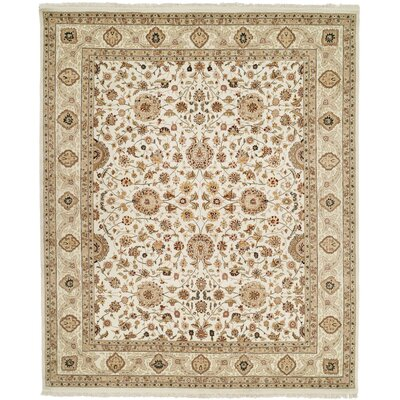 Beason Hand-Woven Ivory Area Rug Rug Size: Rectangle 79 x 99