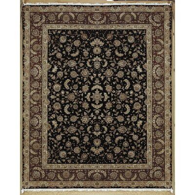Beason Hand-Knotted Black Area Rug