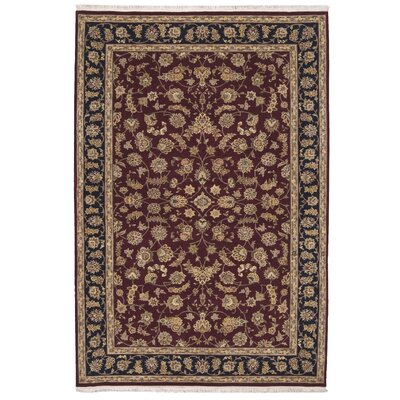 Beason Hand-Woven Burgundy Area Rug Rug Size: Rectangle 79 x 99