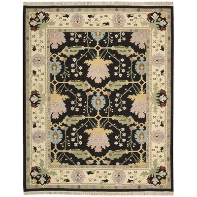 Kewanee Hand-Woven Black Area Rug Rug Size: Rectangle 99 x 139