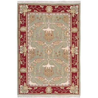 Kewanee Hand-Woven Olive Area Rug Rug Size: Rectangle 99 x 139