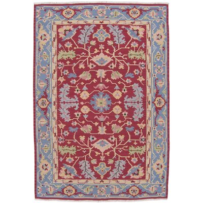 Kewanee Hand-Knotted Red Area Rug