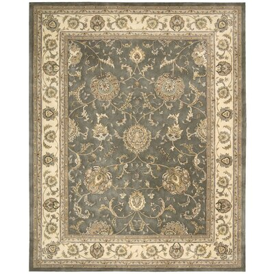 Media Hand-Tufted Gray Area Rug Rug Size: 5 x 8