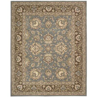 Media Hand-Tufted Blue/Brown Area Rug