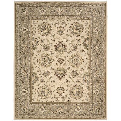 Media Hand-Tufted Ivory Area Rug Rug Size: 79 x 99