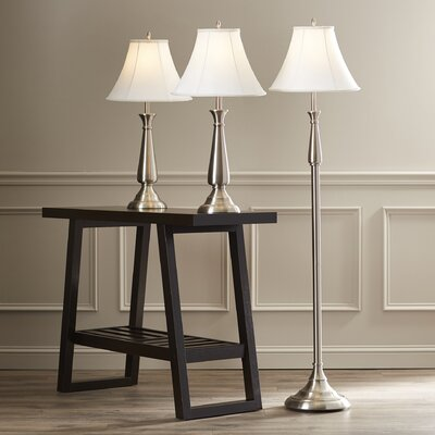 Marion 3 Piece Table and Floor Lamp Set