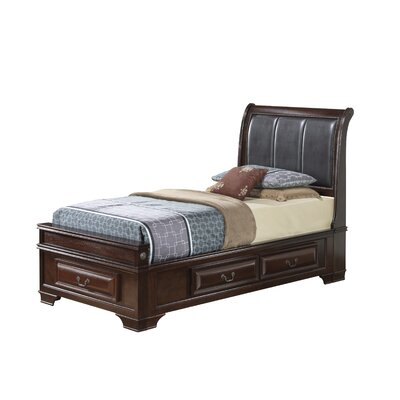Edwardsville Upholstered Storage Platform Bed Finish: Cappuccino, Size: Twin