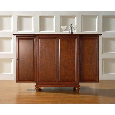 Goreville Bar Cabinet with Wine Storage Color: Classic Cherry