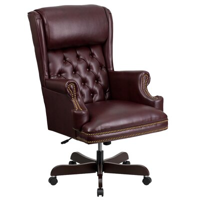 Brassie High-Back Executive Office Chair Color: Burgundy Product Photo 10