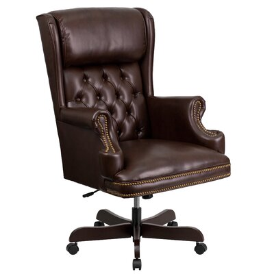 Brassie High-Back Executive Office Chair Color: Black Product Photo 12