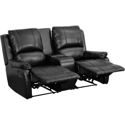Sackville 2 Seat Home Theater loveseat Upholstery: Black