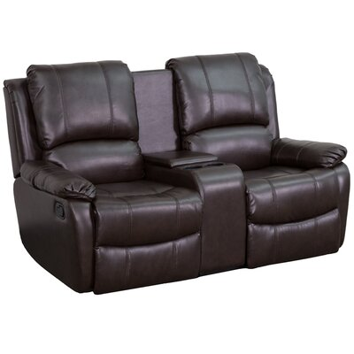 Sackville 2 Seat Home Theater loveseat Upholstery: Brown