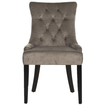Elk Birch Wood Side Chair Upholstery: Mushroom Taupe