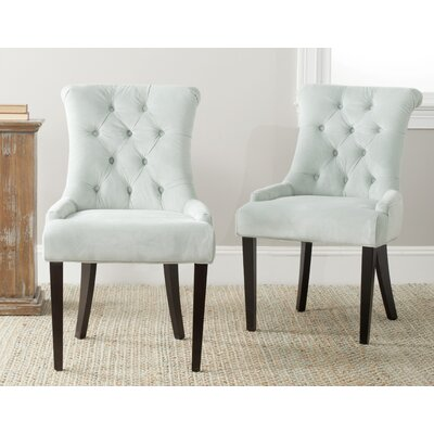 Allensby Upholstered Dining Chair Upholstery: Light Blue