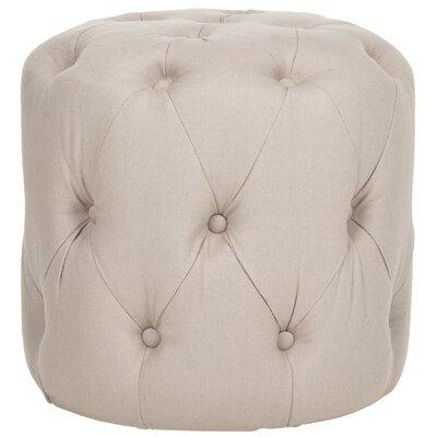 Wolstonton Tufted Round Ottoman Upholstery: Taupe