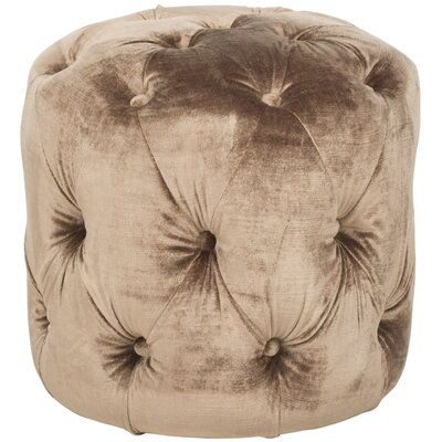 Wolstonton Tufted Round Ottoman Upholstery: Champagne