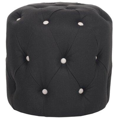 Wolstonton Tufted Round Ottoman Upholstery: Black