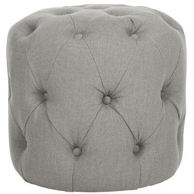 Wolstonton Tufted Round Ottoman Upholstery: Granite