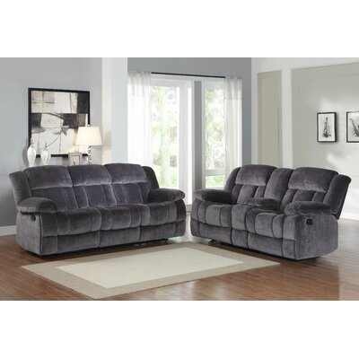 Dale Double Reclining Sofa Upholstery: Charcoal