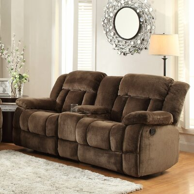 Dale Double Glider Reclining Sofa Upholstery: Chocolate