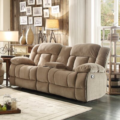 Furniture-Dale Double Glider Reclining Upholstery Camel