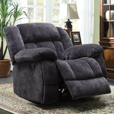 Dale Manual Glider Recliner Upholstery: Charcoal