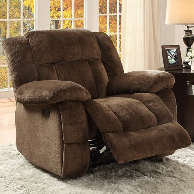 Dale Manual Glider Recliner Upholstery: Chocolate
