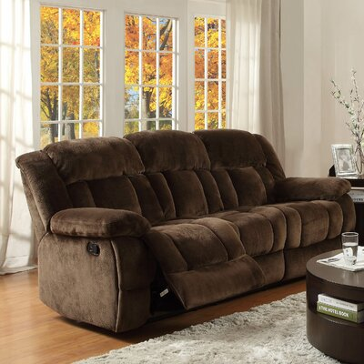 Dale Double Reclining Sofa Upholstery: Chocolate