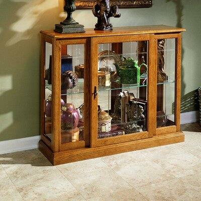 Purvoche Console Curio Cabinet Finish: Golden Oak
