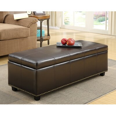 Fulton Ottoman Upholstery Color: Coffee Brown
