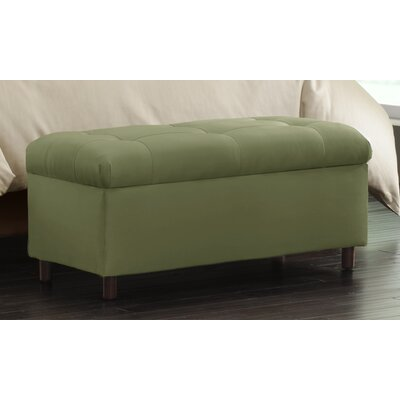 Nelson Tufted Upholstered  Microdenier Storage Ottoman Finish: Sage