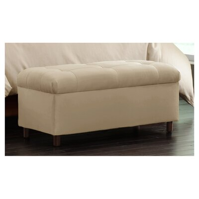 Nelson Tufted Upholstered  Microdenier Storage Ottoman Finish: Oatmeal