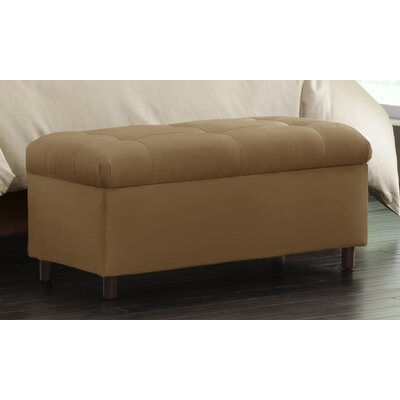 Nelson Tufted Upholstered  Microdenier Storage Ottoman Finish: Saddle